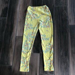 LuLaRoe bird print tween leggings